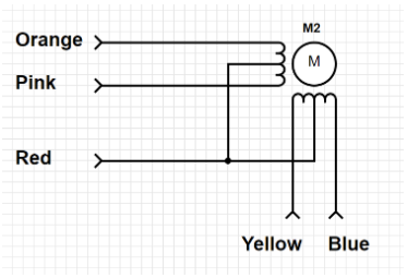 Wiring diagram of a Stepper Motor
