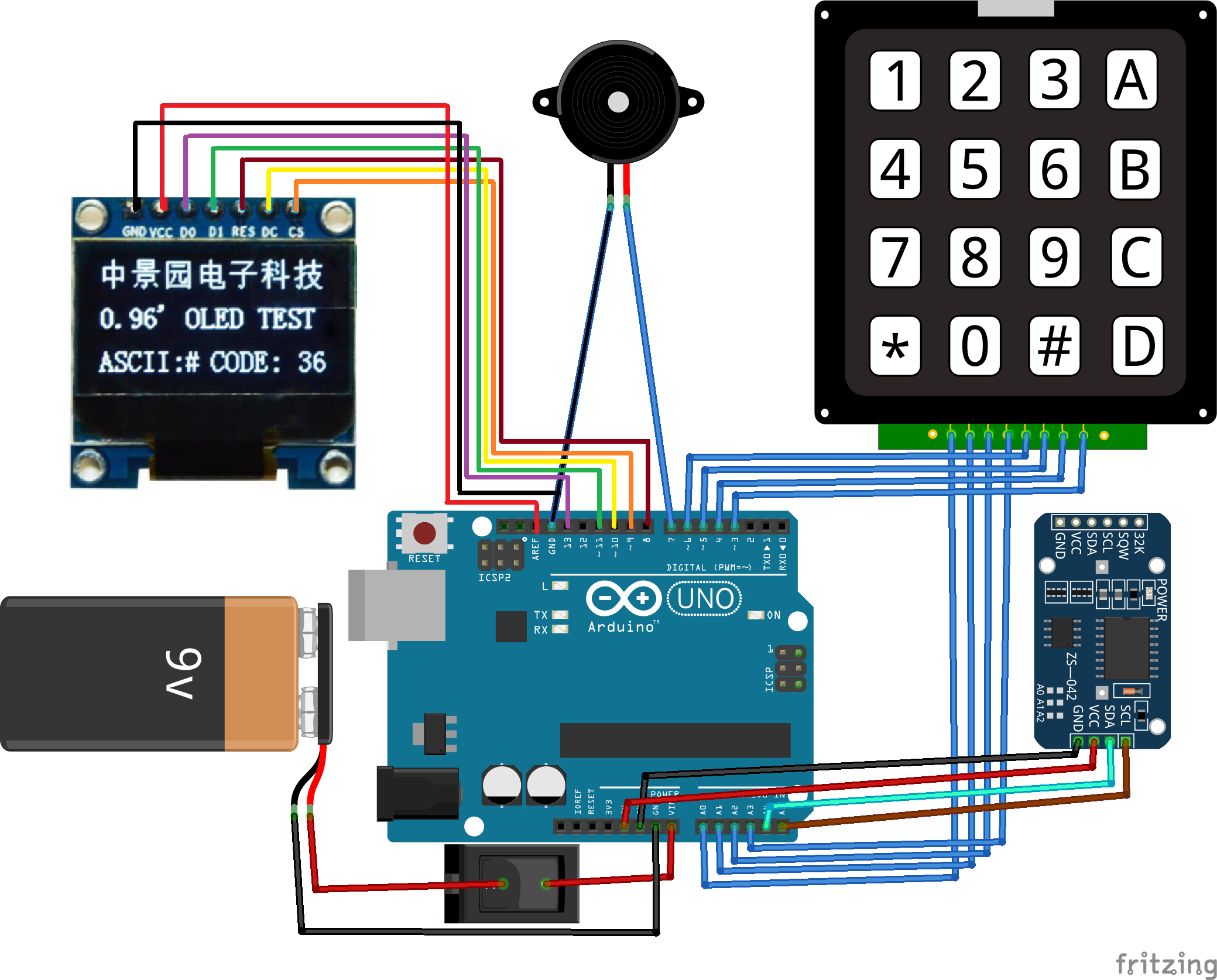 Diy Arduino Alarm Clock Device Maker Pro And Ds3231 Real Time Circuit Schematics Code Explanation Firstly We Included The Libraries For Keypad Rtc