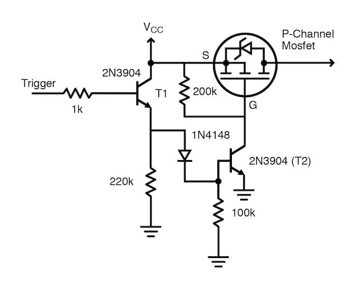 sensor-based wake up circuit diagram