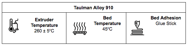 Taulman Alloy 910 Specifications