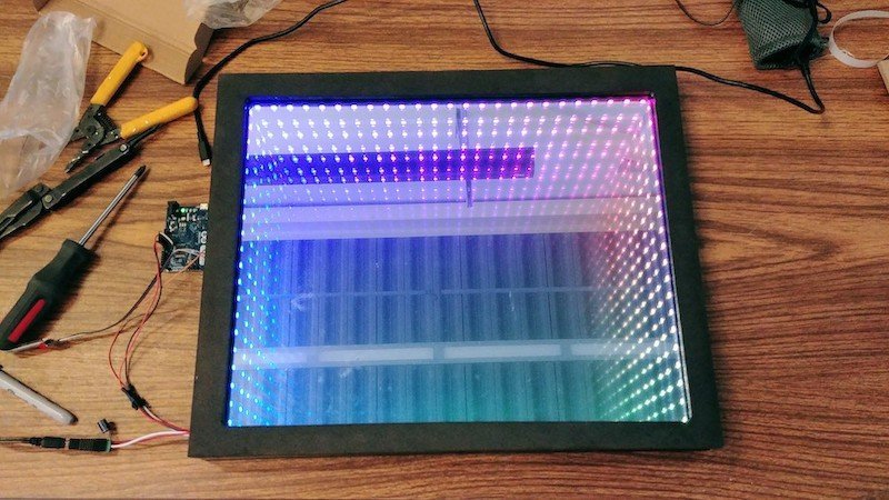 completed infinity mirror