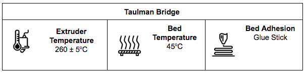 Taulman Bridge Specification