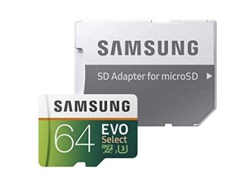samsung 64gb evo select micro sd