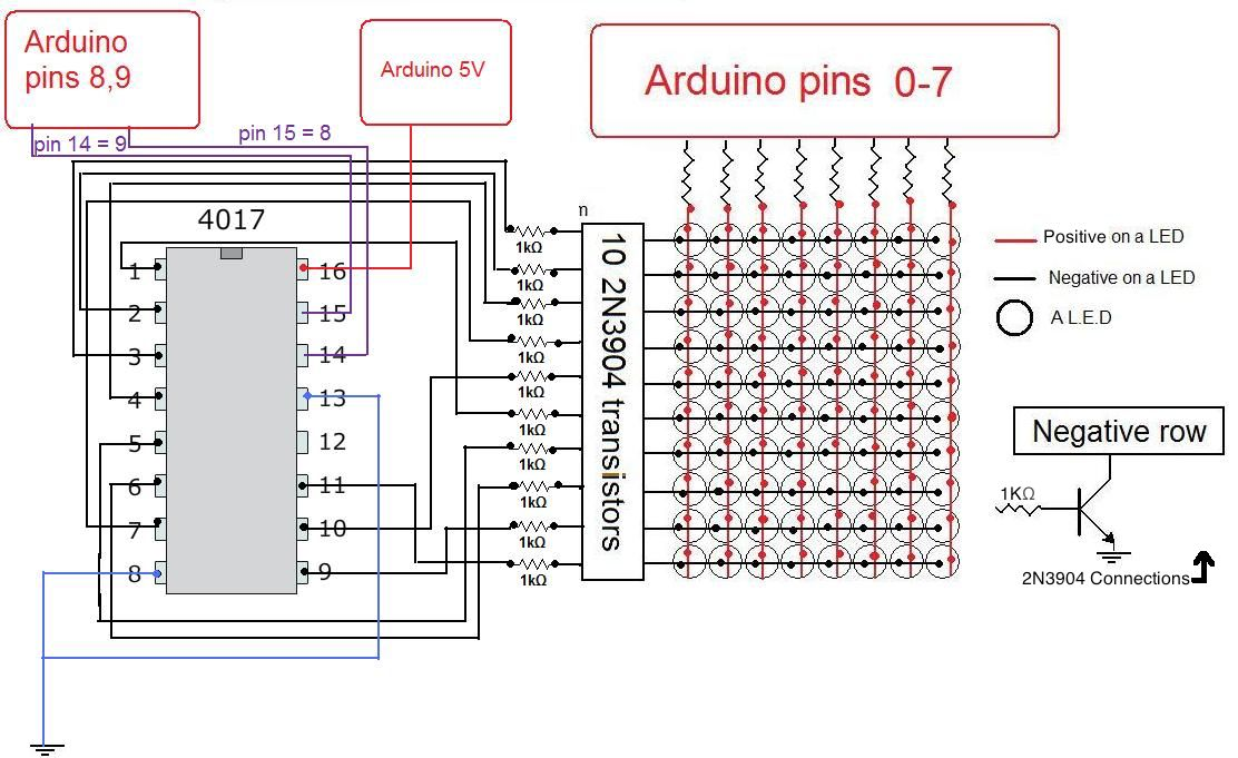 how to build an arduino led matrix in 3 simple steps arduino rh maker pro Simple LED Circuits LED Lamp Wiring Diagram