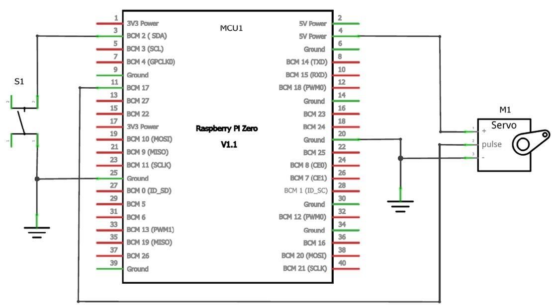 The simple DC servo motor controller circuit schematic diagram.