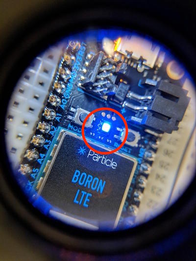 particle boron LED light