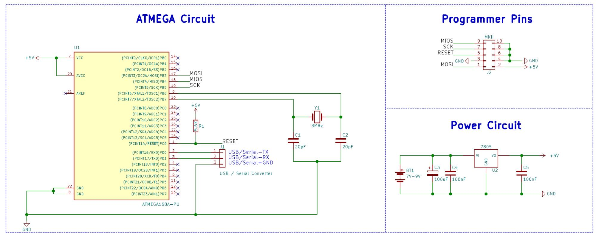 Communicating with an ATmega168 8-Bit AVR Microcontroller