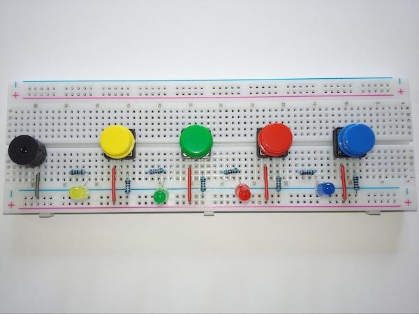 completed breadboard setup