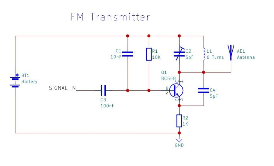 diy fm transmitter schematic