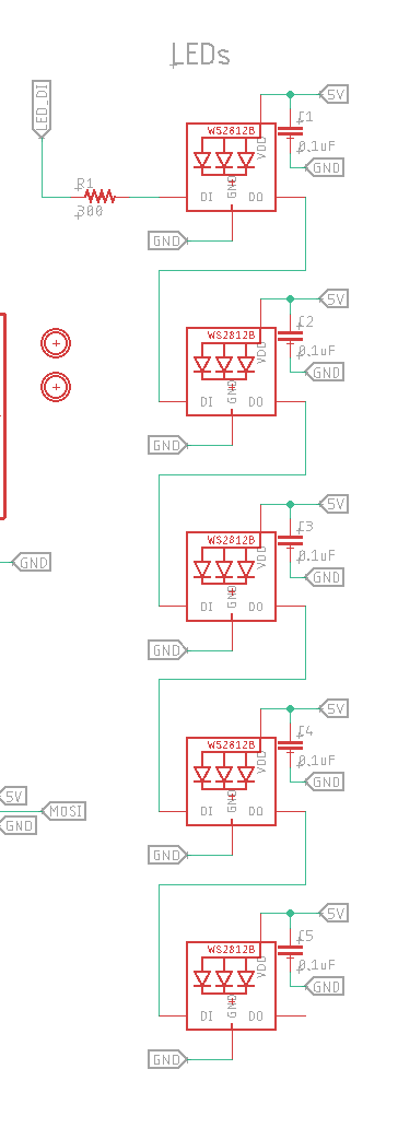 LEDs in schematic
