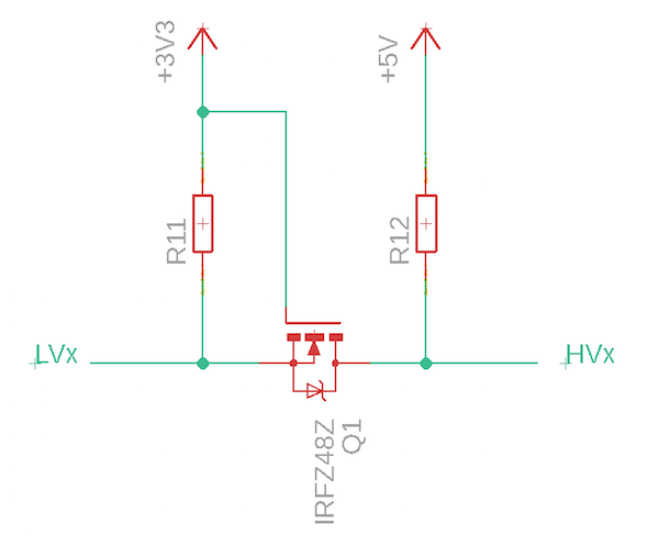 logic level converter circuit diagram