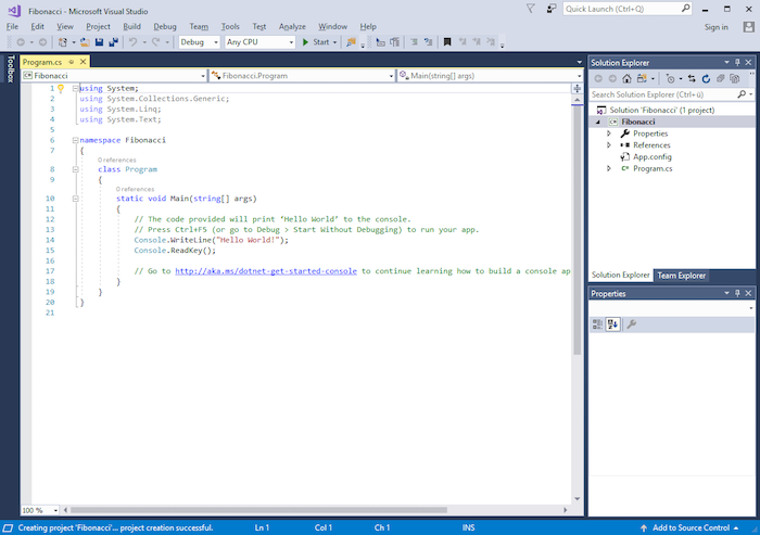 visual studio design window