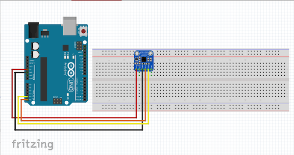 circuit diagram for Arduino Uno and VCNL4010