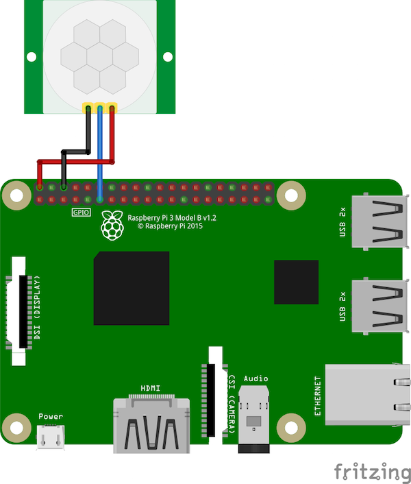 Raspberry Pi motion sensor circuit diagram