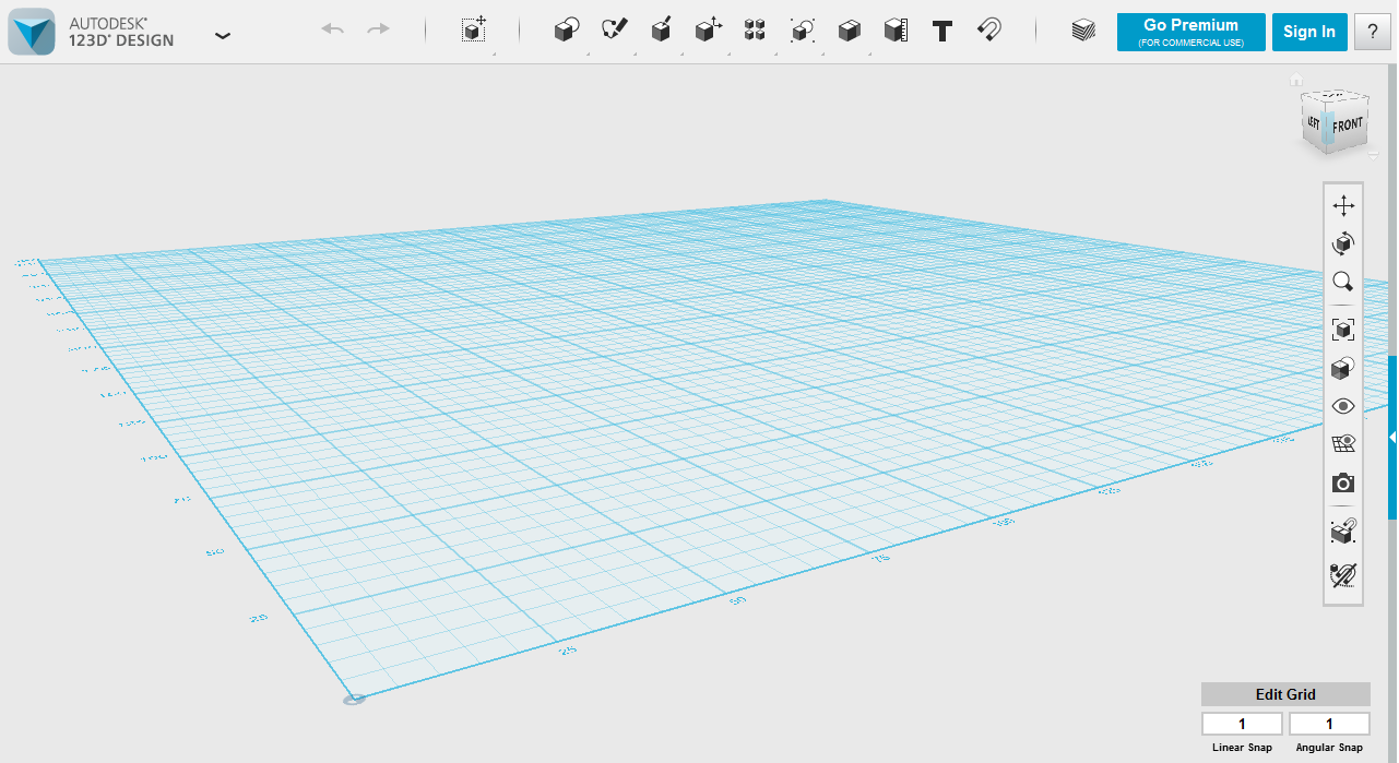 plain grid in 123d