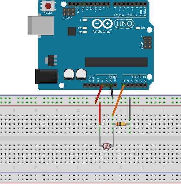 How to Use an LDR Sensor With Arduino | Arduino | Maker Pro