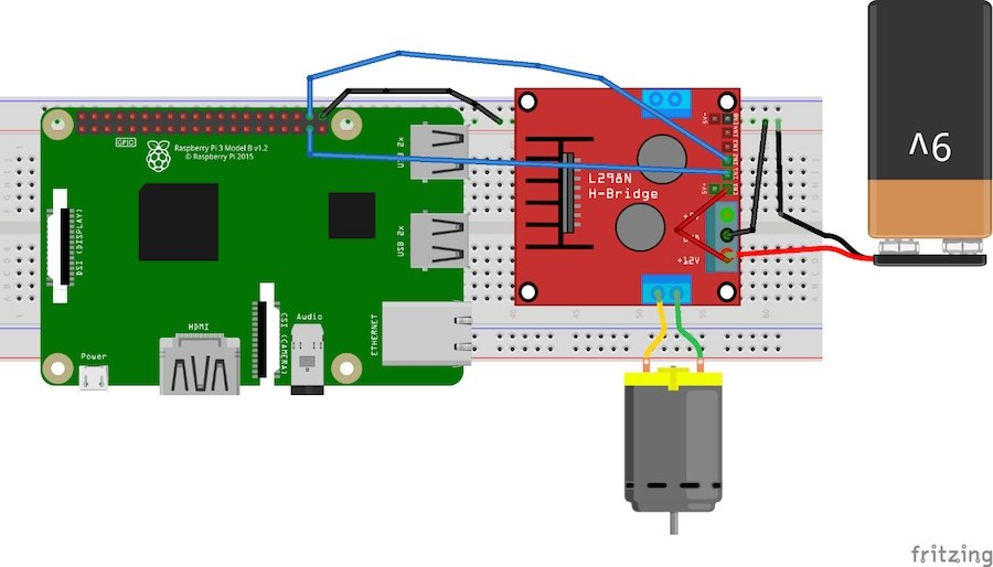 b4e635c673b7c1 Controlling a DC Motor is easy with a Raspberry Pi. We use an L298 motor  driver to control the DC motor, which allows the motor to move forward or  backward.