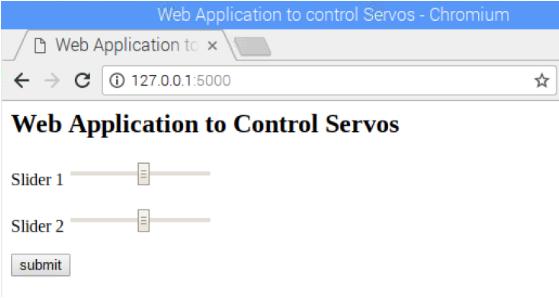 Web Application to Control Servos