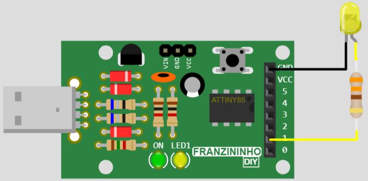 Blink an LED - Franzininho online Simulator