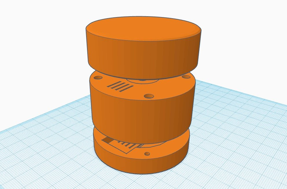 The volume knob in tinkercad