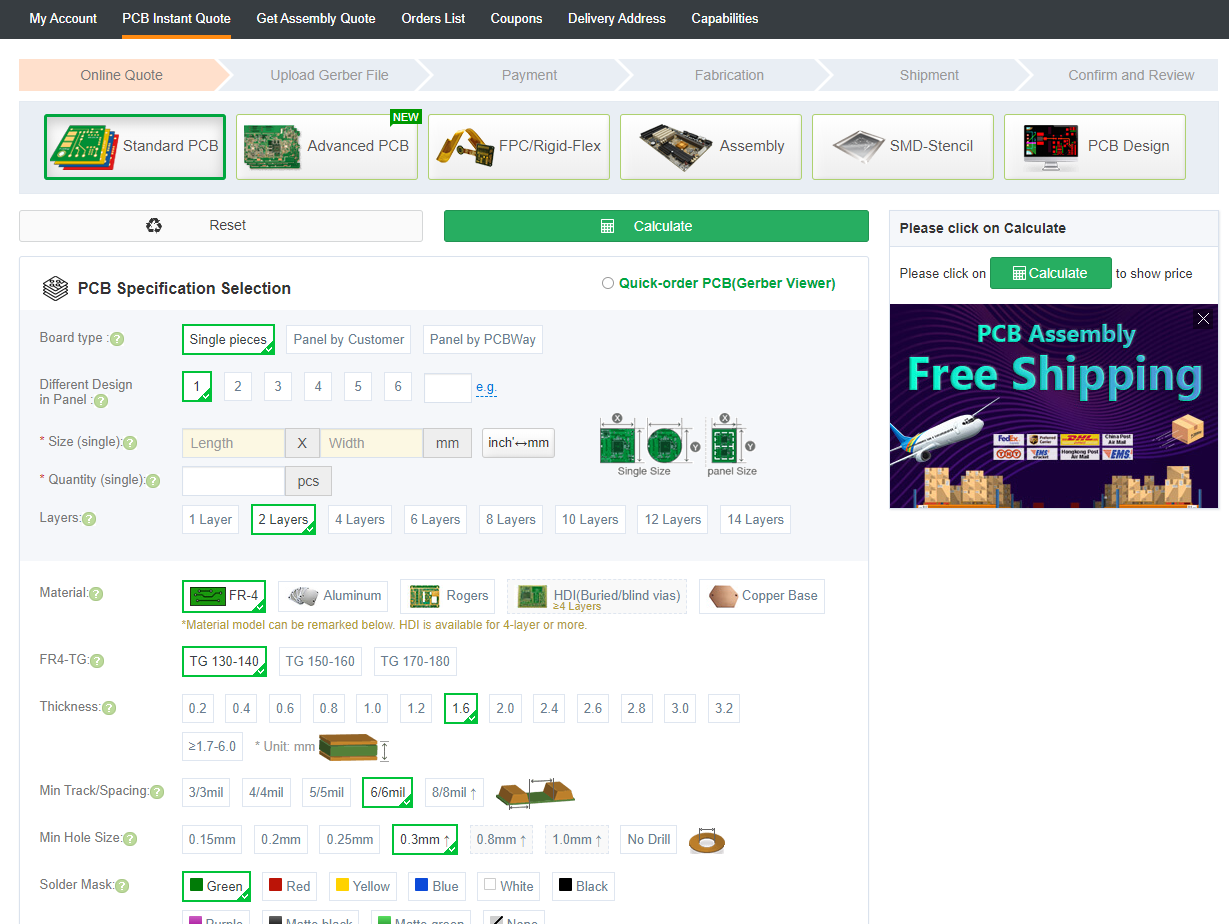 PCBWay ordering page overview.png