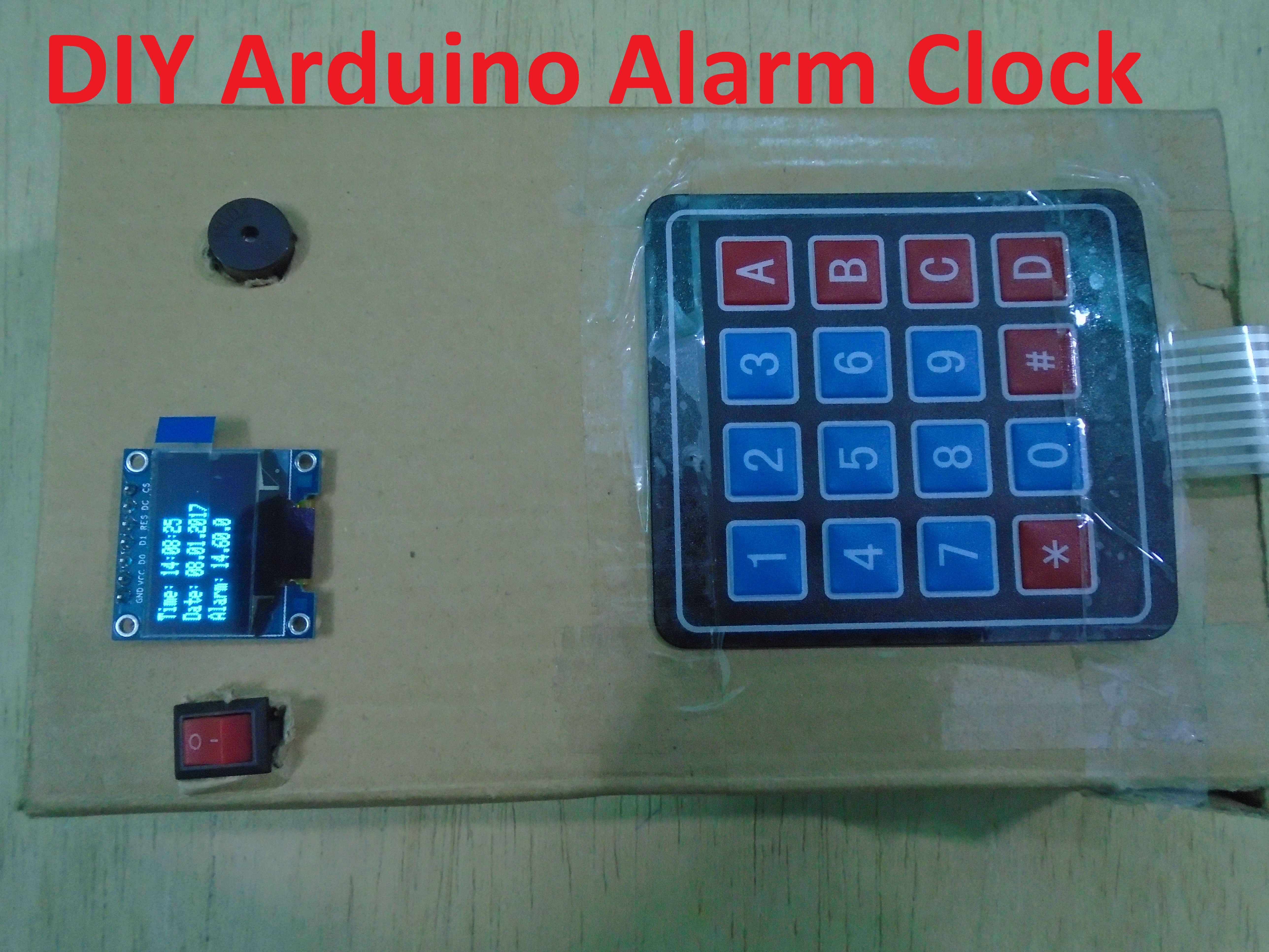 Diy Arduino Alarm Clock Device Maker Pro And Ds3231 Real Time Circuit Schematics